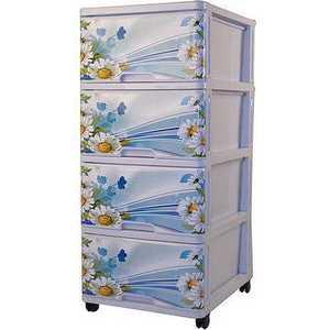 Комод Dunya Plastik Ромашка с рисунком 0403-4 dunya комод 4 ящика с рисунком