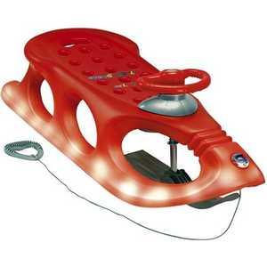 Санки KHW Snow Shuttle de luxe mit Licht красные со светодиодами 28351