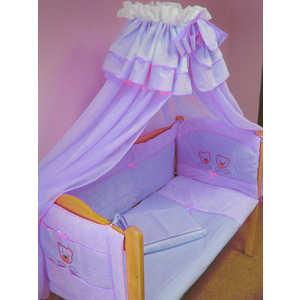 Комплект в кроватку Балу ''Мишутка'' 9 предметов (голубой) Ш4031