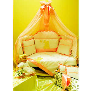Комплект в кроватку Балу ''Сенечка'' 8 предметов (желтый) Ш4027