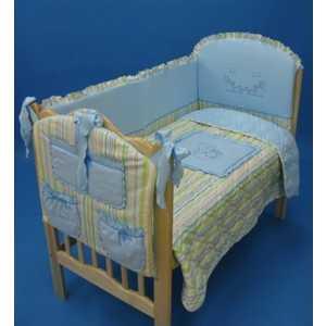 Комплект в кроватку Золотой гусь ''Сладкий сон'' 7 предметов (голубой) 1092