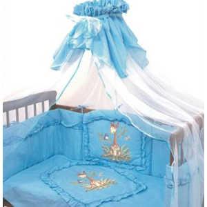 Комплект в кроватку Золотой гусь Алёнка 7 предметов (голубой) 1012 комплект в кроватку золотой гусь алёнка 7 предметов зелёный 1014