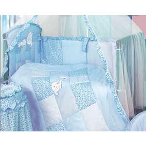 Комплект в кроватку Золотой гусь Кошки-мышки 7 предметов (голубой) 1702 детский комплект малыши кошки мышки