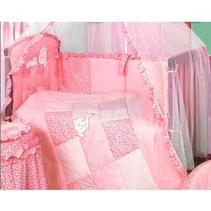 Комплект в кроватку Золотой гусь ''Кошки-мышки'' 7 предметов (розовый) 1706
