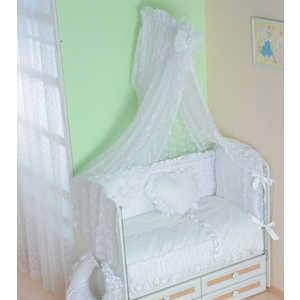 Комплект в кроватку Сдобина ''Нежность'' 7 предметов (белый) 69