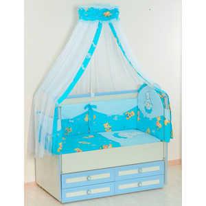 Купить комплект в кроватку Сдобина 5 предметов (голубой) 25.4 (151973) в Москве, в Спб и в России