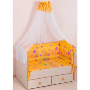 Комплект в кроватку Сдобина ''Обруч'' 6 предметов (желтый) холлофайбер 59.2