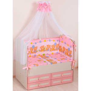 Комплект в кроватку Сдобина ''Обруч'' 6 предметов (розовый) холлофайбер 59.2