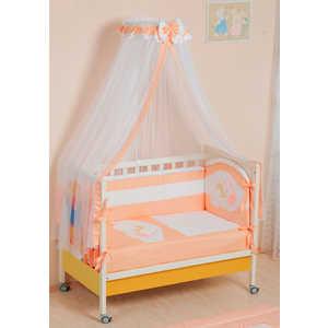 Фотография товара комплект в кроватку Сдобина ''Мой маленький друг'' 7 предметов (персиковый) 50.1 (151994)