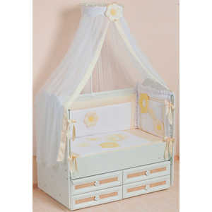 Комплект в кроватку Сдобина Цветные сны 7 предметов (бежевый) 62 комплект в кроватку сдобина 6 предметов махровый бирюзовый 73