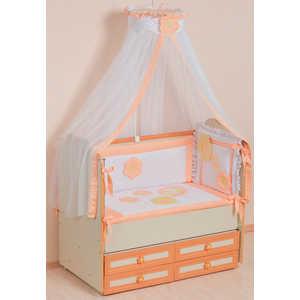Комплект в кроватку Сдобина Цветные сны 7 предметов (персиковый) 62 комплект в кроватку сдобина 6 предметов махровый бирюзовый 73