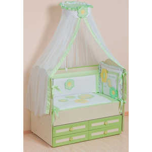 Комплект в кроватку Сдобина Цветные сны 7 предметов (салатовый) 62 комплект в кроватку сдобина 6 предметов махровый бирюзовый 73