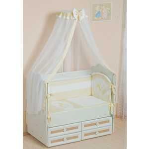 Комплект в кроватку Сдобина Мой маленький друг 7 предметов (бежевый) 50.1 конверт для новорожденного сдобина мой маленький друг бежевый 50 115