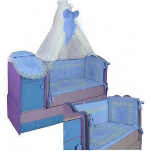 Комплект в кровать Сдобина 7 предметов (голубой) 78
