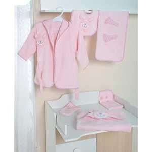 Комплект в кровать Сдобина махровый (розовый) 73