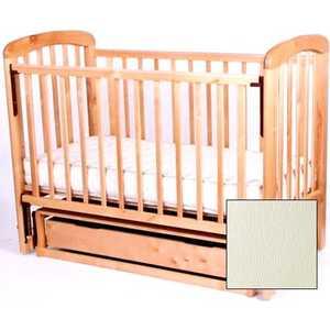Кроватка Счастливый малыш ''Кроха-2'' поперечный маятник/ящик/автоспинка/накладка пвх (слоновая кость) (014 009)