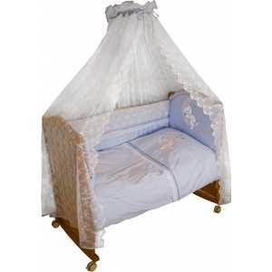 Фотография товара комплект в кроватку Сонный Гномик ''Лунный зай'' 7 предметов (голубой) 740 (152149)