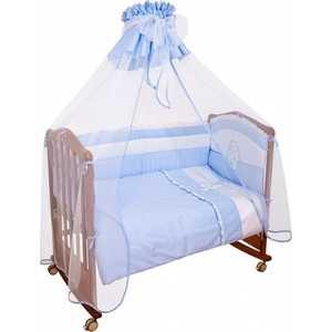 Комплект в кроватку Сонный Гномик ''Пушистик'' 7 предметов (голубой) 710