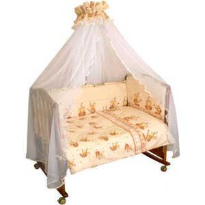 Комплект в кроватку Сонный Гномик ''Пчелки'' 7 предметов (бежевый) 732