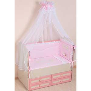 Комплект в кроватку Сдобина Художник 7 предметов (розовый) 65 лежанка для животных добаз цвет светло розовый серый 65 х 65 х 20 см