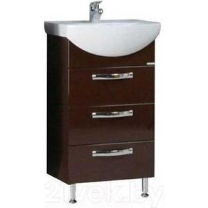 Тумба под раковину Акватон Ария 50 н тёмно-коричневая (1A140201AA430)  комплект мебели акватон ария 65 н тёмно коричневая