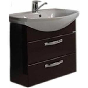 Тумба под раковину Акватон Ария 65 м тёмно-коричневая (1A123301AA430)  комплект мебели акватон ария 65 н тёмно коричневая