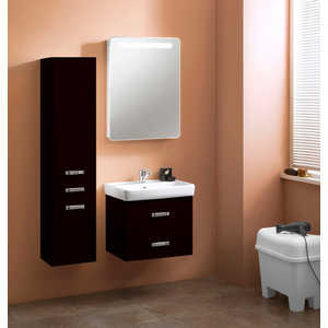 Комплект мебели Акватон Америна 60 чёрная тумба под раковину акватон америна 70 н 1a169301am010
