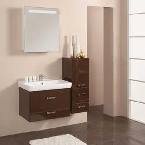 Комплект мебели Акватон Америна 70 тёмно-коричневая тумба под раковину акватон америна 70 н 1a169301am010