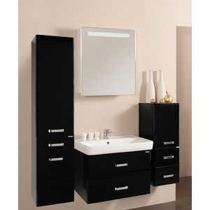 Комплект мебели Акватон Америна 70 чёрный глянец акватон мебель для ванной акватон минима