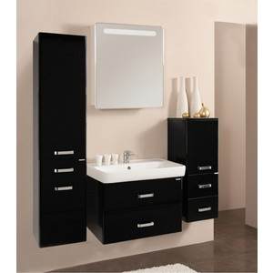Комплект мебели Акватон Америна 80 чёрный глянец акватон мебель для ванной акватон минима