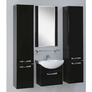 Комплект мебели Акватон Ария 50 чёрный глянец/тёмно-коричневая  комплект мебели акватон ария 65 н тёмно коричневая