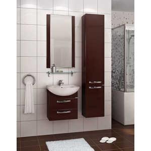 Комплект мебели Акватон Ария 50 М чёрный глянец/тёмно-коричневая комплект мебели акватон ария 65 н тёмно коричневая