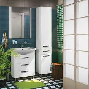 Комплект мебели Акватон Ария 65 н белая  комплект мебели акватон ария 65 н тёмно коричневая