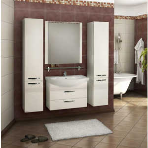 Комплект мебели Акватон Ария 80 м белая акватон мебель для ванной акватон римини 80 белая