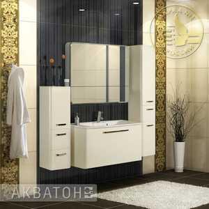 все цены на Комплект мебели Акватон Валенсия 110 бел металлик (белый жемчуг) онлайн