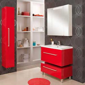Комплект мебели Акватон Мадрид 80 бордо зеркальный шкаф акватон мадрид 80 1a175202ma010