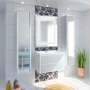 Комплект мебели Акватон Римини 80 белый акватон мебель для ванной акватон римини 80 белая
