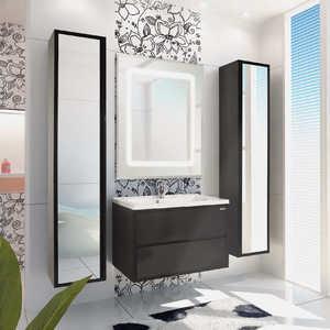 Комплект мебели Акватон Римини 80 чёрный акватон мебель для ванной акватон римини 80 белая