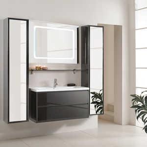 Комплект мебели Акватон Римини 100 чёрный акватон мебель для ванной акватон римини 80 белая