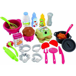Ecoiffier Набор посудки с продуктами 2617 ecoiffier игрушечная тележка с продуктами
