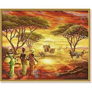 Раскраска по номерам Schipper Африка 9130426 к в бабаев что такое африка