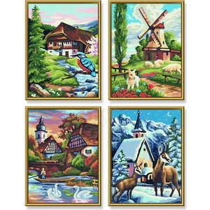 Раскраска по номерам Schipper ''Времена Года'' 4 картины 9340552