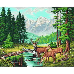 Раскраска по номерам Schipper Горный пейзаж 9130344 наборы для рисования цветной картины по номерам огненное дерево