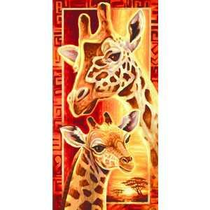 Раскраска по номерам Schipper ''Жирафы'' 9220457