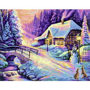 Раскраска по номерам Schipper ''Зима'' 9130504
