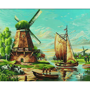 Фотография товара раскраска по номерам Schipper ''Мельница'' 9350545 (158769)