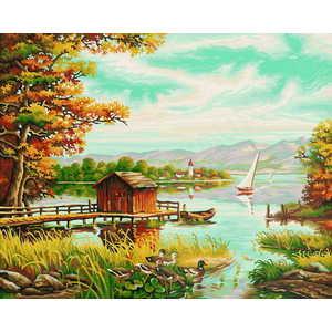 Фотография товара schipper Раскраска по номерам На берегу озера 9130377 (158773)