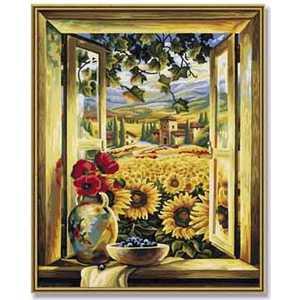 Фотография товара раскраска по номерам Schipper ''Поле подсолнухов'' 9130405 (158784)