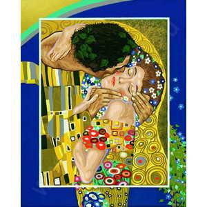 Раскраска по номерам Schipper ''Поцелуй'' Гюстав Климт 9130301