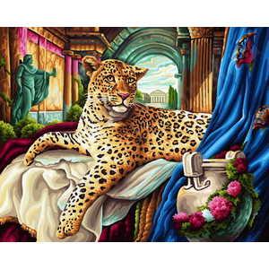 Schipper Римский леопард 9130384 набор для изготовления картины со стразами cristal леопард 60 см х 42 см